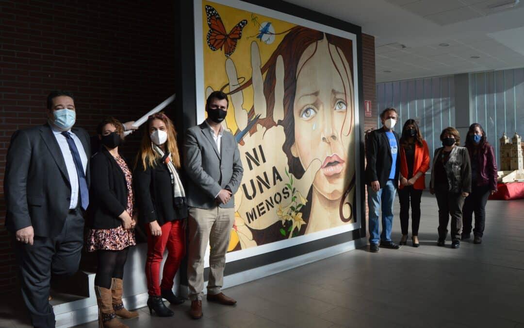 Inauguración del mural «Ni una menos» en Cigales