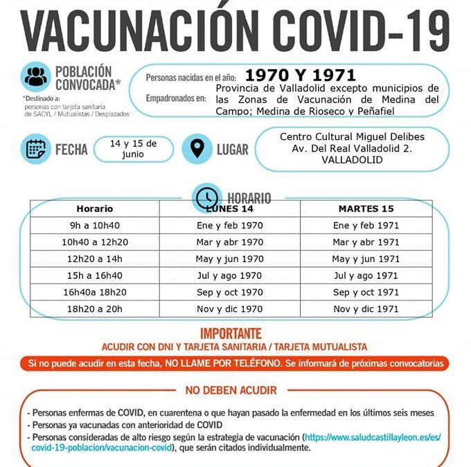 Vacunación Covid19 nacidos 1970 y 1971