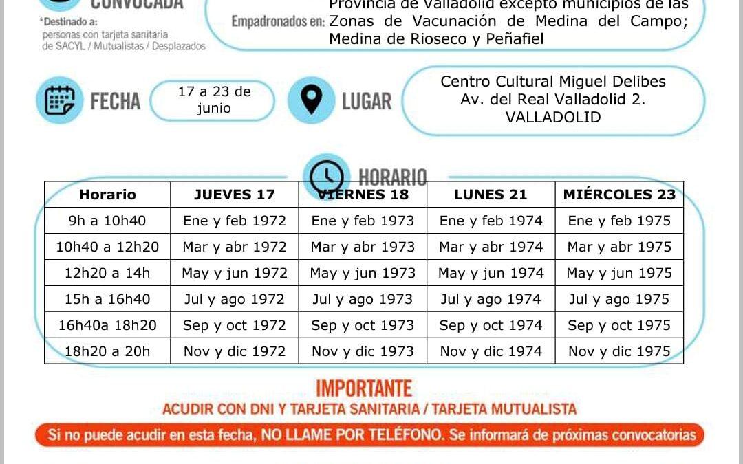 Vacunación covid19 nacidos de 1972 a 1975