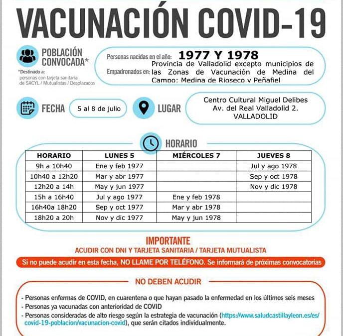 Vacunación covid19 nacidos 1977 y 1978