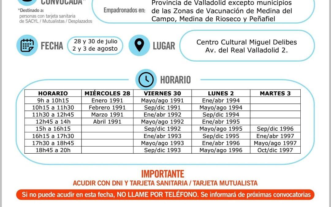 Vacunación covid19 nacidos 1991 a 1997